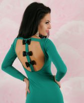 Rochie Lovely Back Green