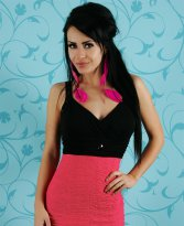 Rochie Mexton Party Queen Coral