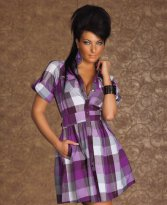 Rochie Perfect Karo Purple