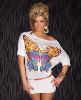 Rochie Chic Butterfly White