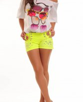 Mexton Motion Yellow Shorts
