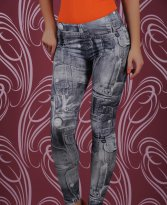 Colanti Denim Look Black