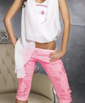 Jeans Mexton Youth Symbol Pink