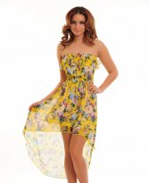 Haine. Rochie Flowers Song Yellow