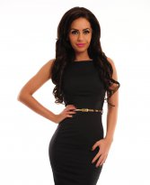 PrettyGirl Famous Glam Black Dress