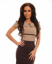 Perfect Attitude Brown Dress