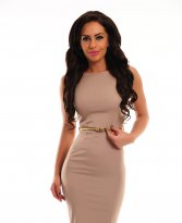 PrettyGirl Famous Glam Cream Dress