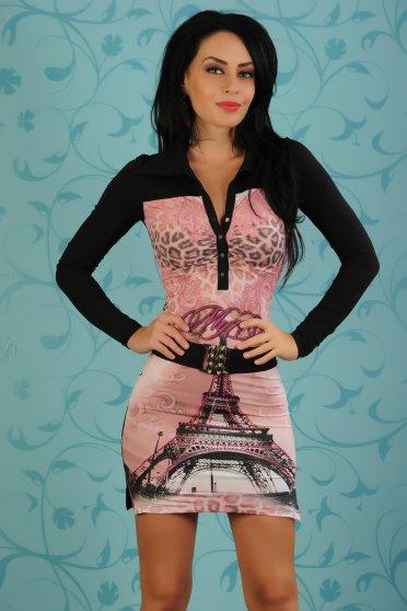 Rochie My77 Eiffel Tower Black