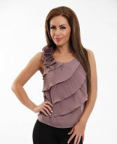 Fofy Magic Romance Brown Top Shirt