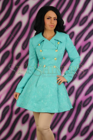 Trench LaDonna Magic Brodery Turquoise, preturi, ieftine