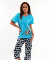 Cute Zebra Blue Pajamas
