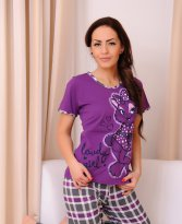 Lovely Girl Purple Pajamas