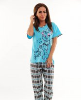 Lovely Girl Blue Pajamas