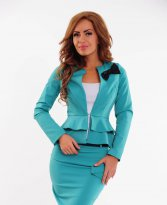 Fofy Romantic Bow Turquoise Jacket