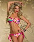 Costum De Baie Tropical Love Pink