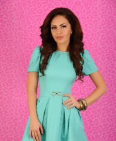 Rochie LaDonna Tender Bow Turquoise