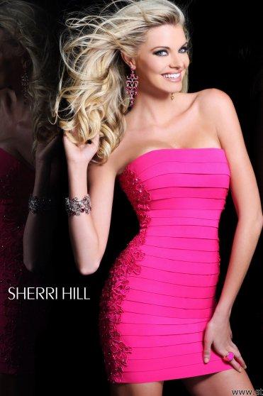 Rochie Sherri Hill 2979 Fuchsia