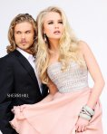 Sherri Hill Famous Pearls Nude Dress