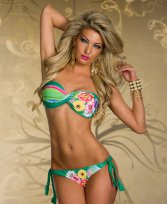 Costum De Baie Tropical Love Green