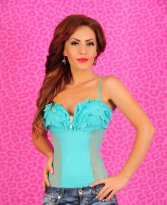 Haine. Body Mexton Romantic Lady Turquoise