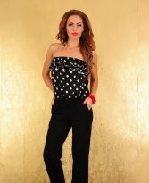 Haine. Salopeta Fofy Playful Dots Black
