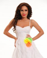 Haine. Rochie Mexton Joy Celebration White