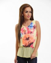 LaDonna Floral Scent Yellow Top Shirt