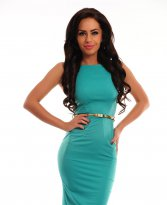 PrettyGirl Famous Glam Green Dress