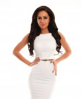 PrettyGirl Famous Glam White Dress