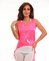 MissQ Vibrating Colour Pink Top Shirt