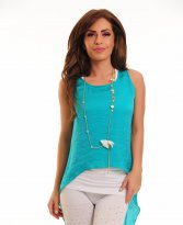 MissQ Vibrating Colour Turquoise Top Shirt