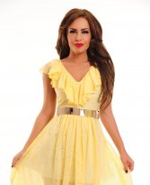 Haine. Rochie LaDonna Unique Sheer Yellow