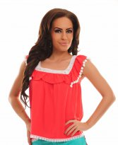 Haine. Bluza Fofy Heat Emotion Coral