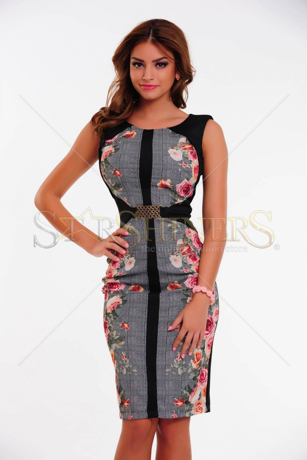 Rochie LaDonna Flowers Infusions Rosa