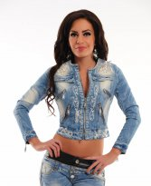 Mexton Lacy Frame Blue Jacket