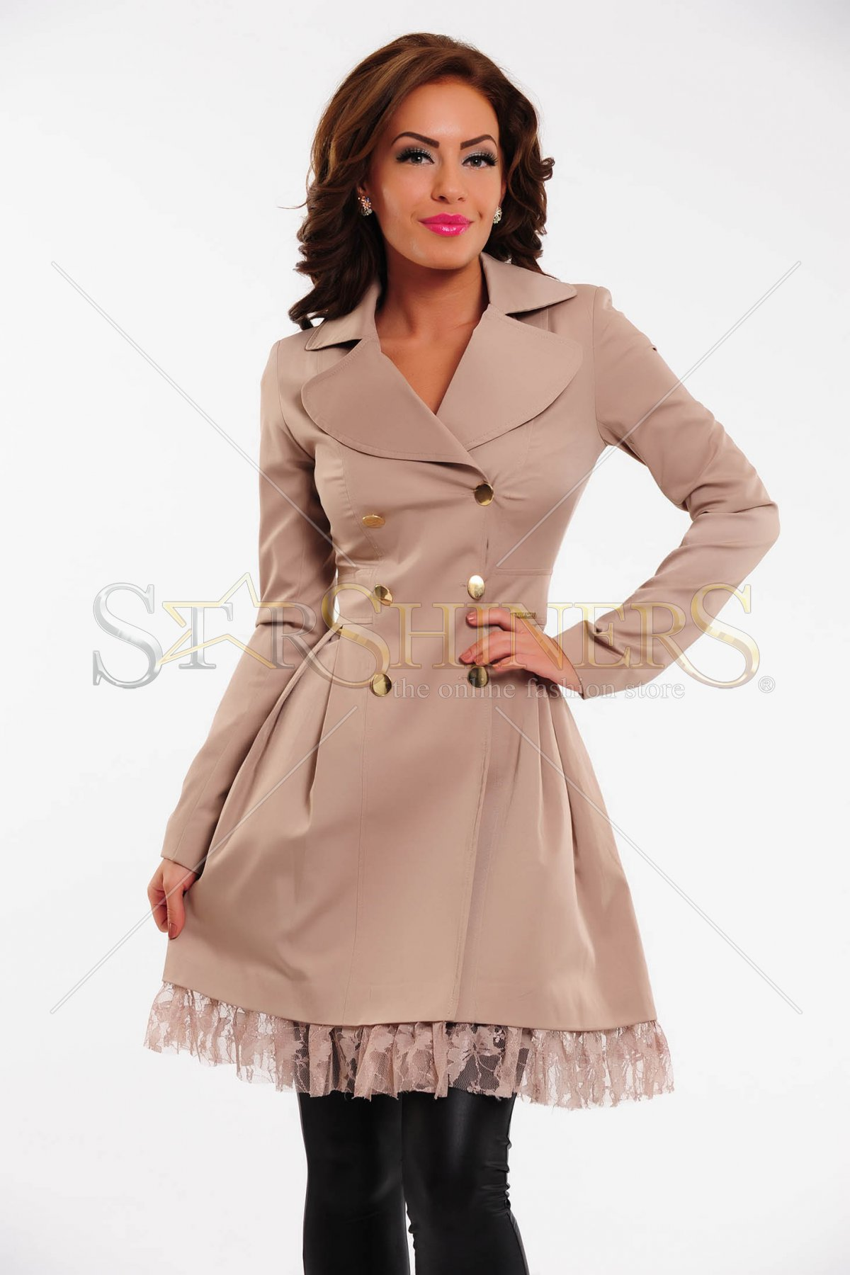 Trench PrettyGirl Sweet Note Brown