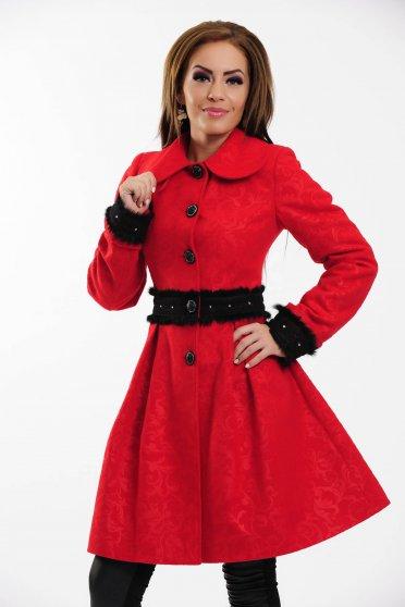 Palton LaDonna Delicate Waist Red