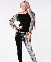 Ocassion Floral Touch Black Jumpsuit