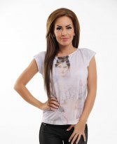Haine. Tricou Stylish Girl White