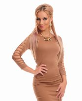 Haine. Rochie Fofy Dust Reveal Brown