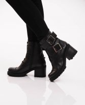 Mexton Army Style Black Boots