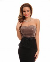 Haine. Rochie Fofy Misterious Appear Brown
