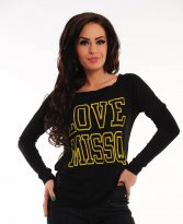 MissQ In Love Black Blouse