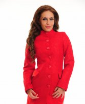 Haine. Palton LaDonna Holiday Life Red