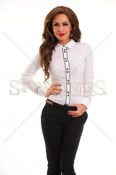 Camasa LaDonna Framed Buttons White