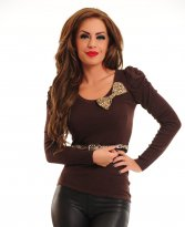 Haine. Bluza Leopard Joy DarkBrown