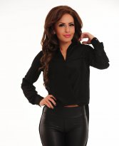 PrettyGirl Rich Life Black Blouse