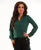 PrettyGirl Rich Life Green Blouse