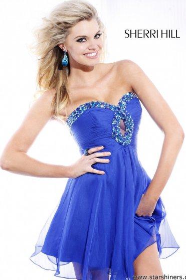 Rochie Sherri Hill 2944 Blue