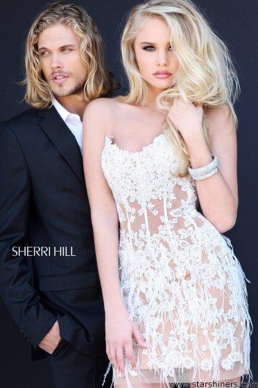 Rochie Sherri Hill 21143 White